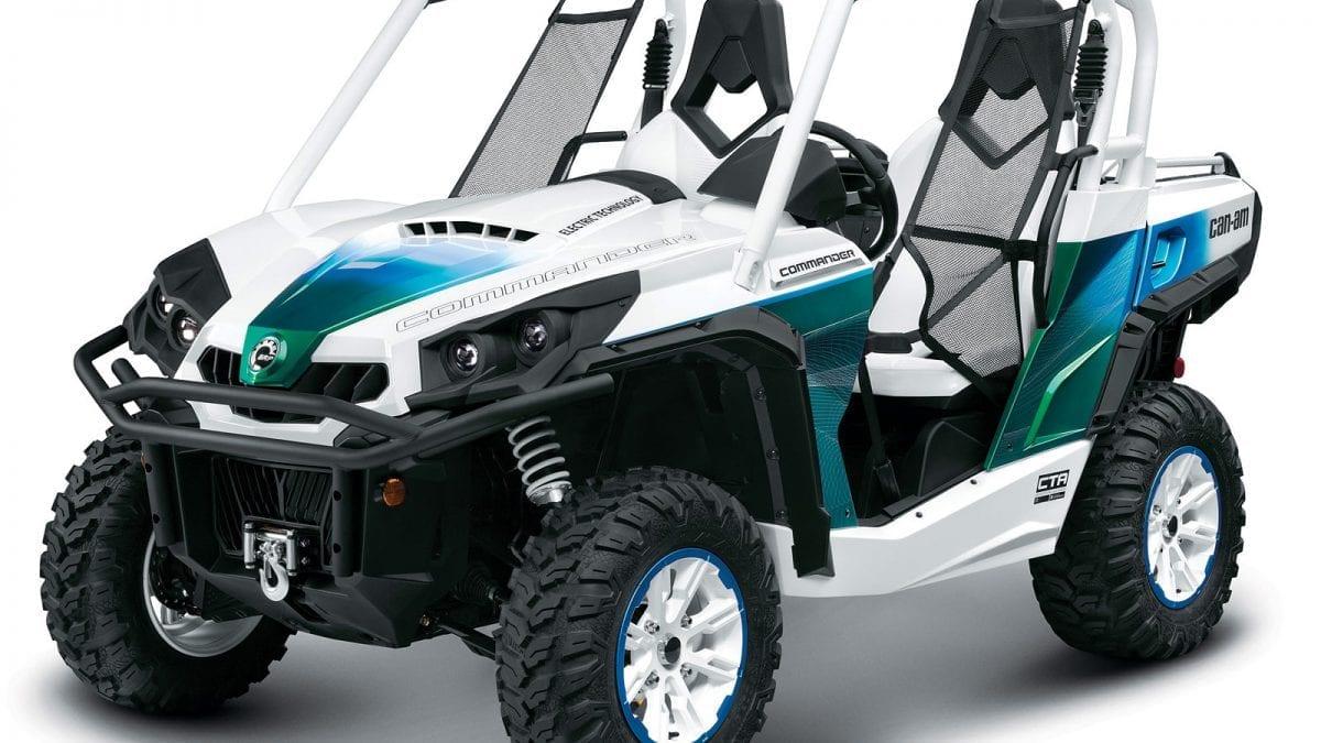 Новинка 2013  – мощный квадроцикл Can-Am Commander с электродвигателем