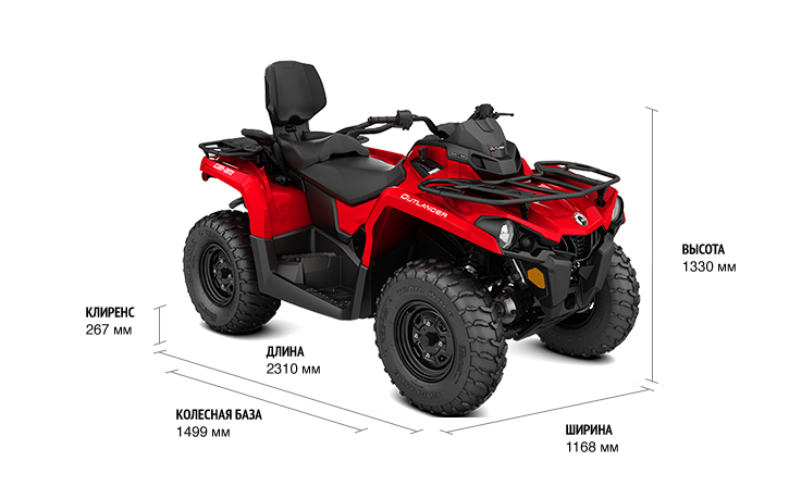 BRP Can-Am Outlander MAX 450 (2019 м.г.)