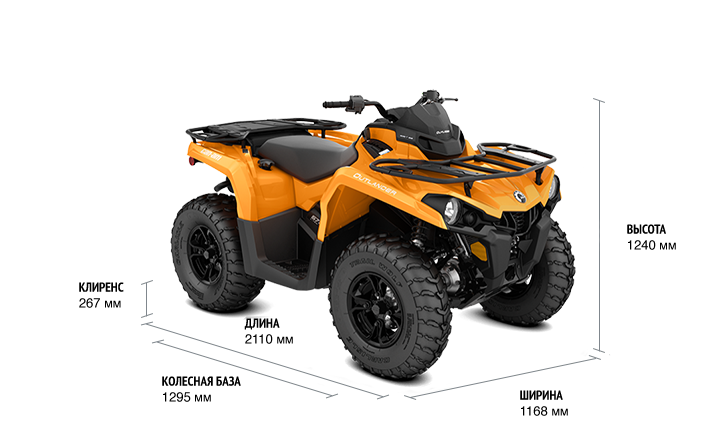 Can-Am Outlander 570 DPS (2018 м.г.)