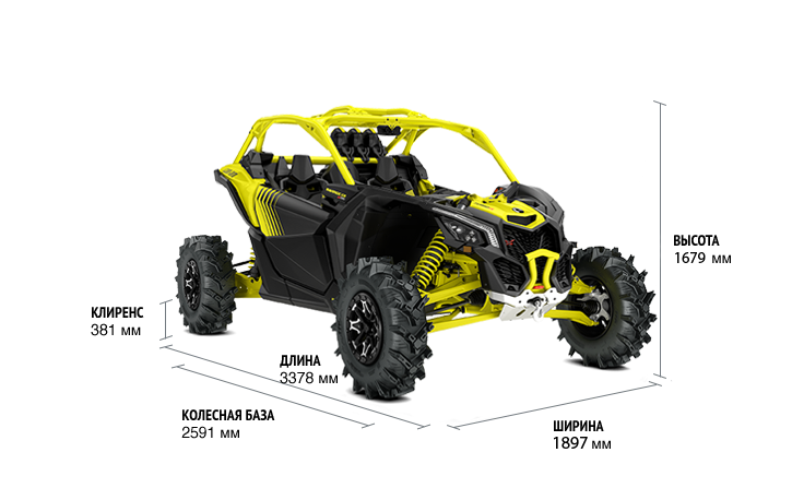 BRP Can-Am Maverick X3 X MR Turbo R (2019 м.г.)