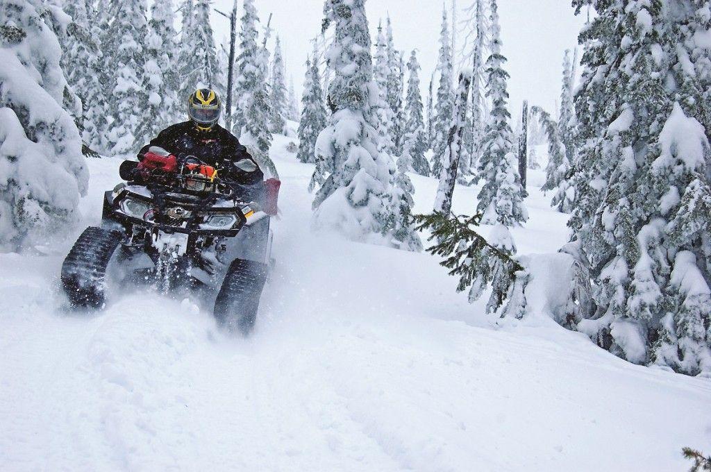 Эксплуатация и езда на квадроцикле зимой