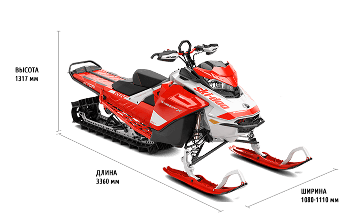 "Ski-Doo Summit X Expert 850 E-TEC 165"" (2020)"