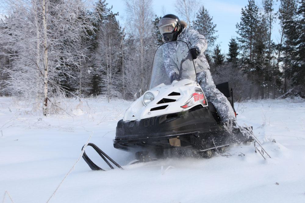 Тест снегоходов Русская Механика Буран