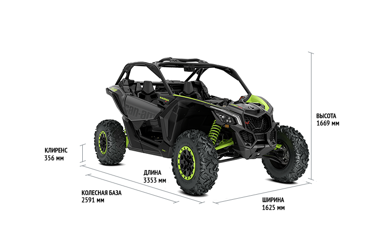 BRP Can-Am Maverick X3 X DS Turbo RR (2020 м.г.)
