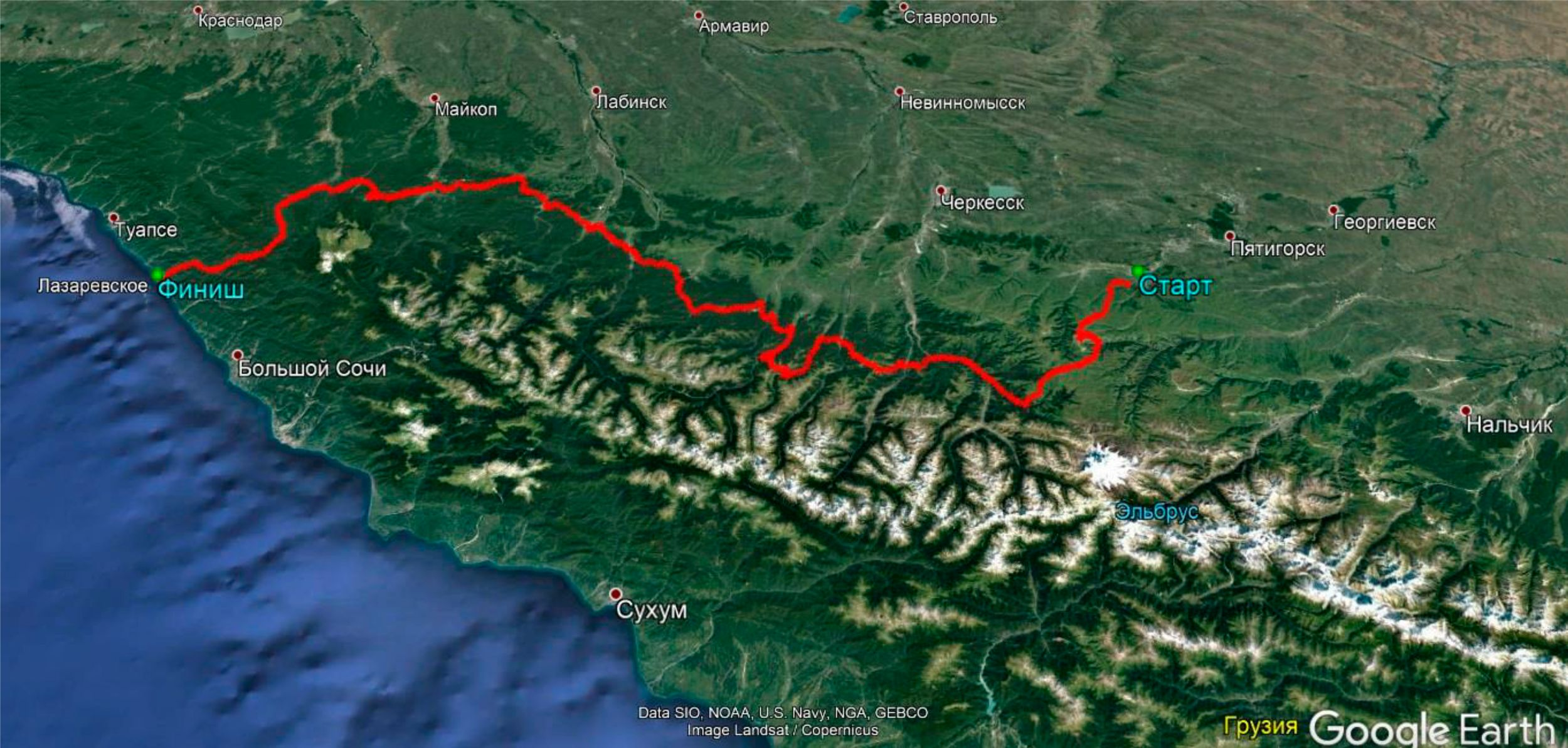 Анонс клубной поездки с 18 по 26 сентября 2021г. на квадроцикле или багги «От Эльбруса до Сочи»