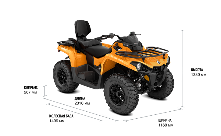 BRP Can-Am Outlander MAX DPS 570 (2018 м.г.)